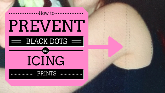 How to prevent black marks appearing on icing prints