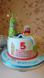 Periodic Table cake using edible images