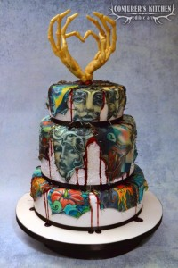 Tattoo cake using edible images