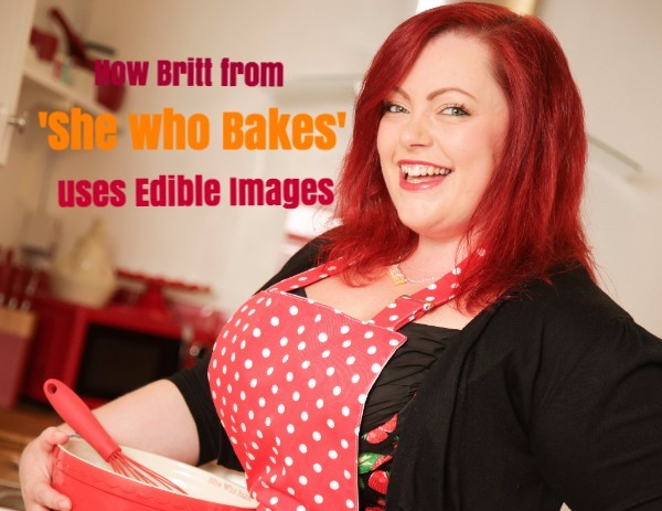 How Britt from She Who Bakes used Edible Images