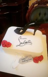 Louboutin Shoe edible image cake