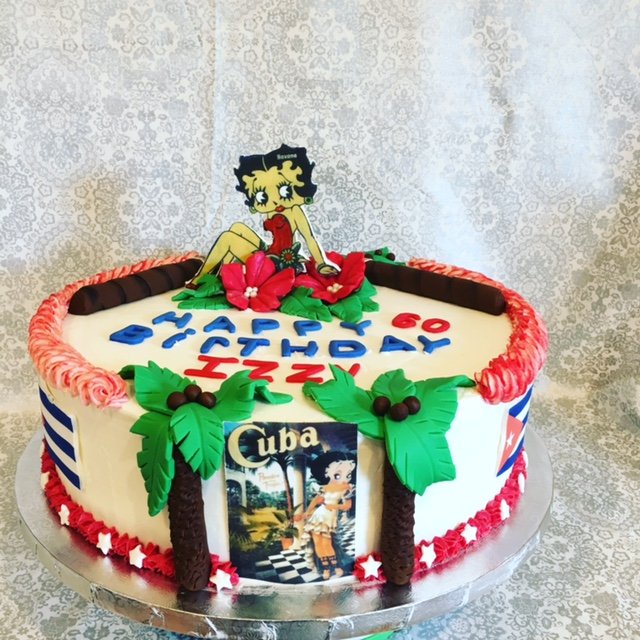 Betty Boop Edible Image Cake
